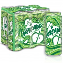 Mirinda Green Apple, Carbonated Soft Drink, Cans, 355 ml x 6