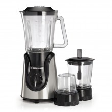 Black & Decker 600W Glass Blender with with Grinder and Mincer Chopper - White and Black [BX600G-B5]