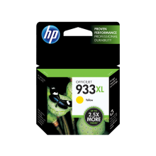 HP 933XL High Yield Yellow Original Ink Cartridge (CN056AE-BGX)