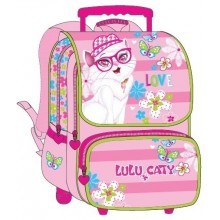 "Lulu Caty School Bag 17"" Glasses Trolley LU33-1002"