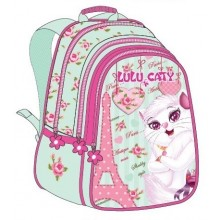 "Lulu Caty (7838) School Bag 17"" Paris BackPack  LU34-1008"