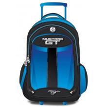 """Mustang School Bag 17"""" Blue Trolley MST37C-1122-17"""