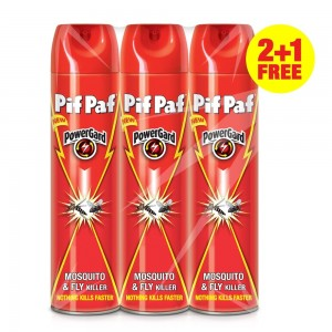 Pif Paf Mosquito & Fly Killer Aerosol, 400ml 2+1