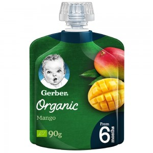 Gerber Organic Mango 90g Baby Food from 6 months
