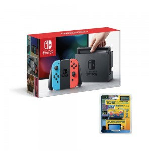 Nintendo Switch Neon Red/Blue Console With Extended Battery - Hwsw431020