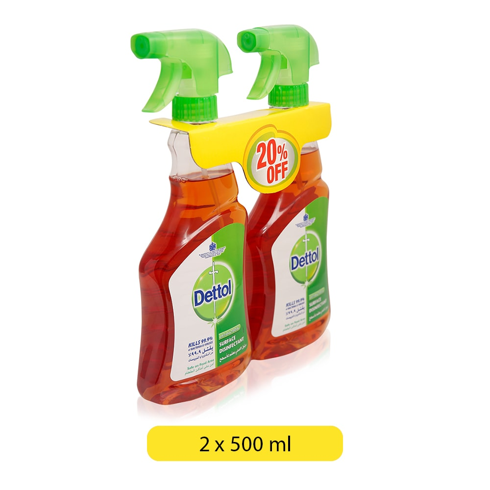 Dettol Anti-Bacterial Surface Disinfectant - 2 x 500 ml