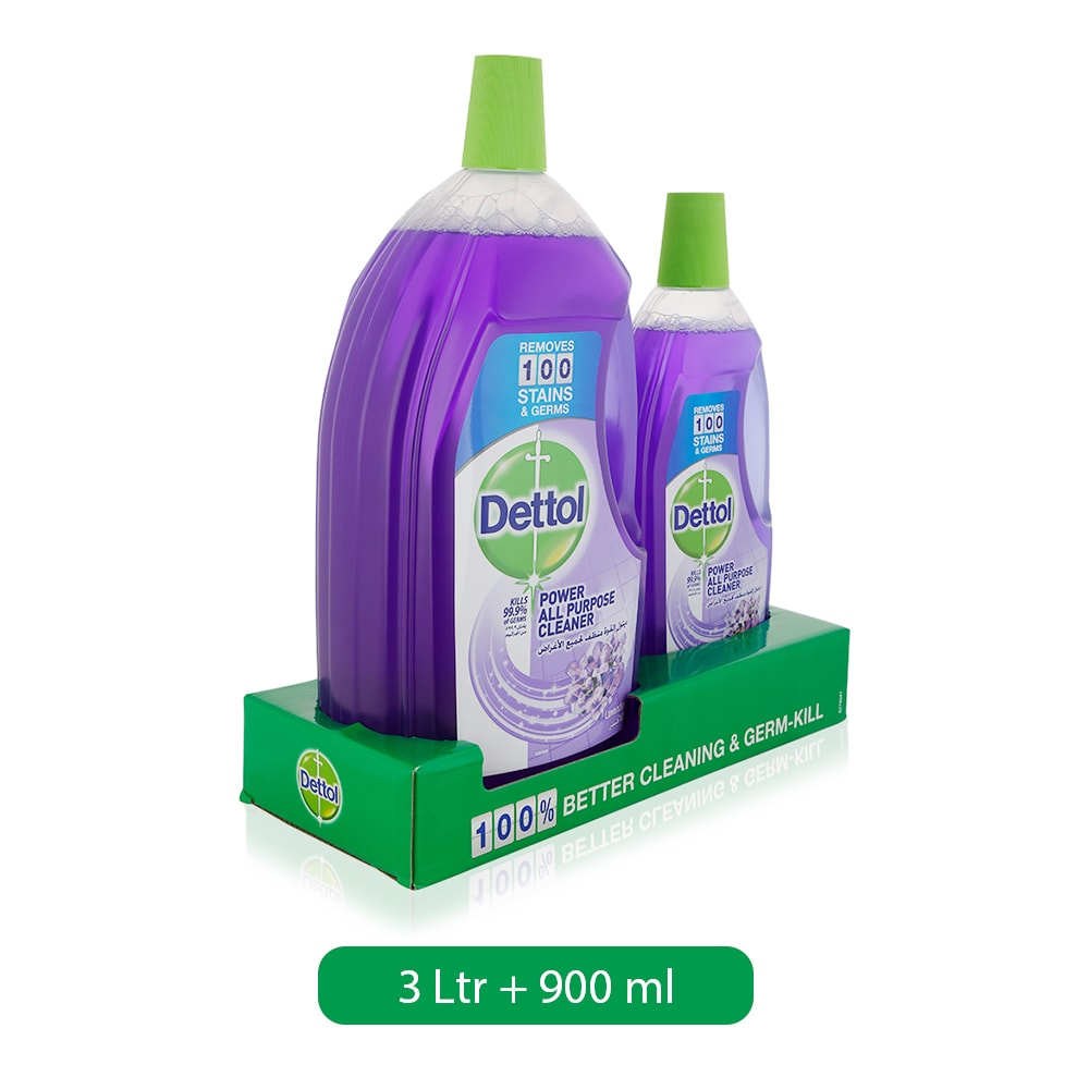 Dettol Lavender All Purpose Cleaner - 3 Ltr + 900 ml