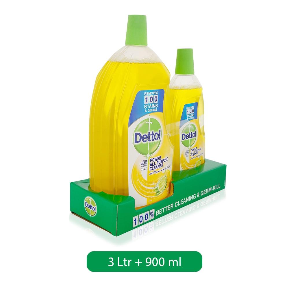 Dettol Lemon Healthy Home All Purpose Cleaner, 3L + 900ml