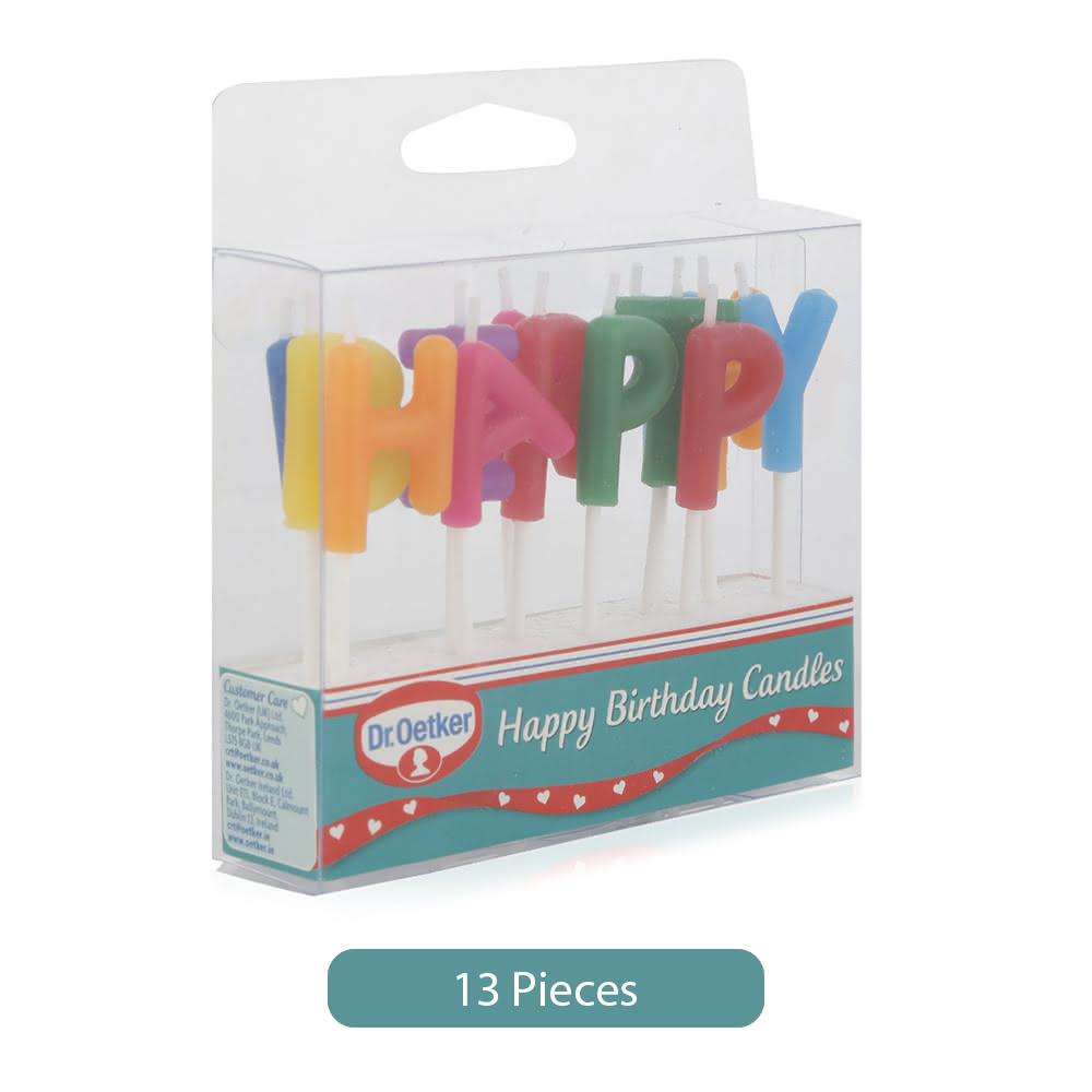 Dr. Oetker Happy Birthday Candles - 13 Pieces