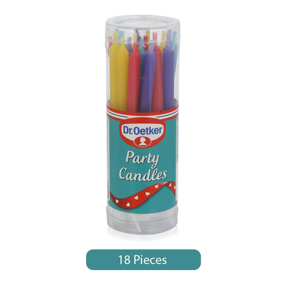 Dr. Oetker Party Candles - 18 Pieces
