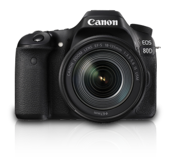 Canon DSLR Camera EOS 80D 18-135mm Lens Kit