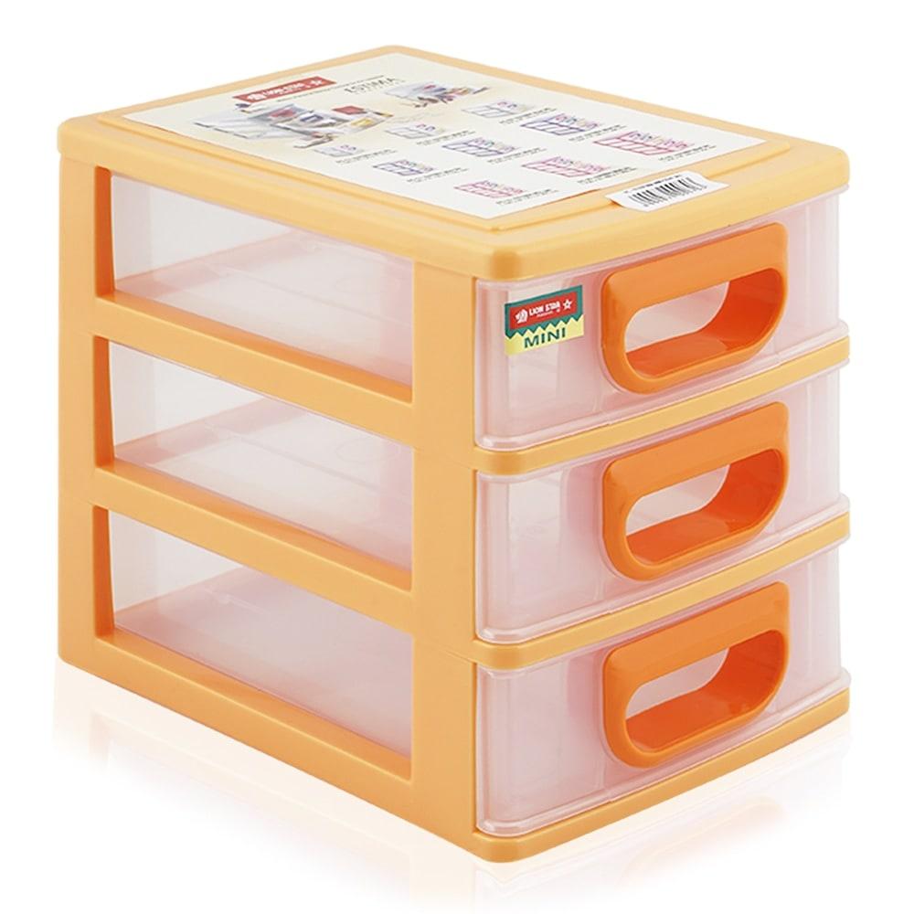 Lion Star EC-13 Estima Plastic Mini Drawer Container - Orange