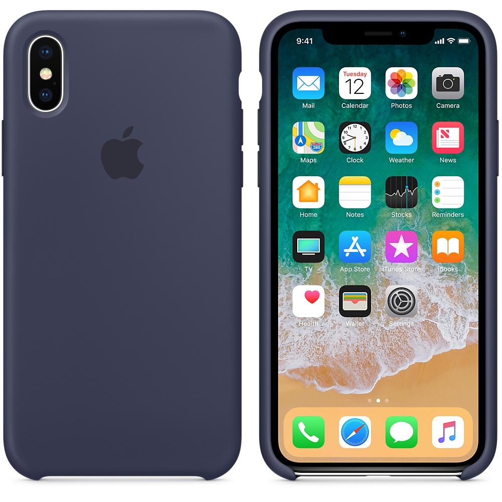 Apple iPhone X Silicone Case - Midnight Blue, MQT32ZM/A