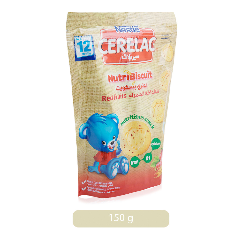 Nestle Cerelac Nutribiscuit From 12 Months With Red Fruits Bag - 150 g