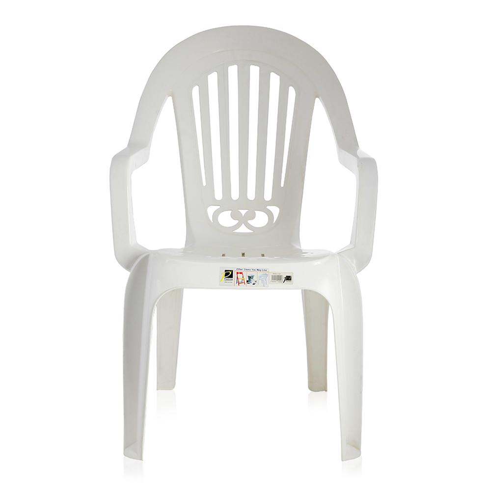 Plastiena Emerald Plastic Chair - White