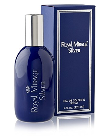 Royal Mirage Silver Eau De Cologne for Men - 120 ml