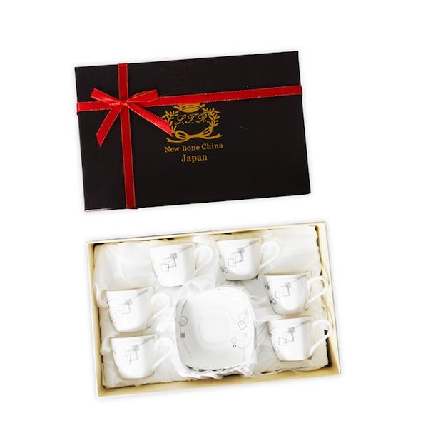 Shenzhen 12Pcs Coffee Cups & Saucer Assorted Set