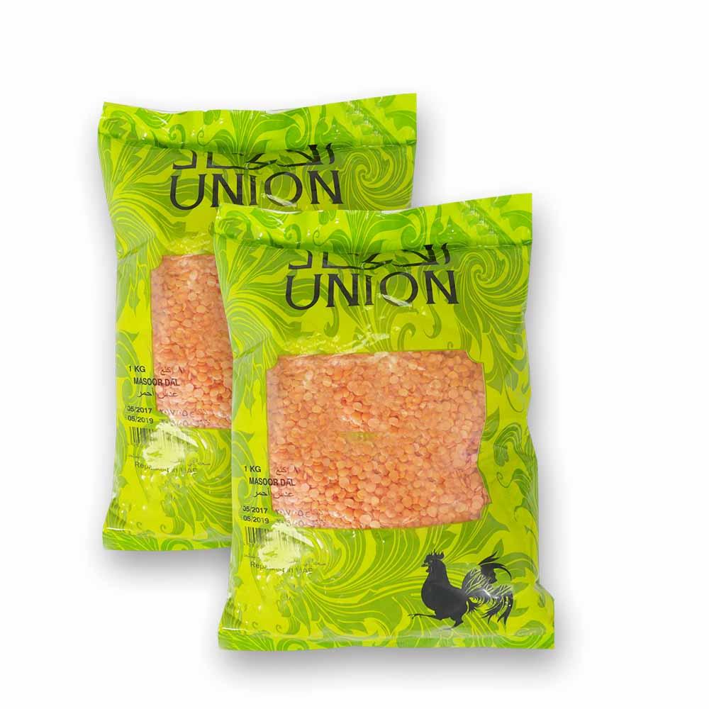 Union Union Masoor Dal - 2 x 1Kg