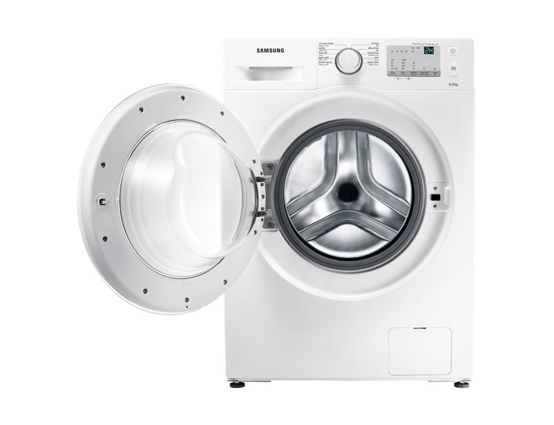 Samsung Front Loading Washing Machine with Diamond Drum, 6 kg WW60J3083LW