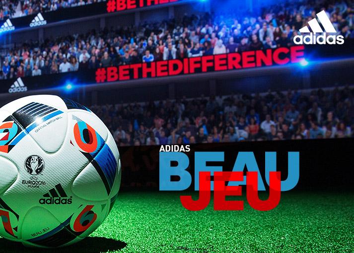 adidas Beau Jeu - Den officielle Euro 2016 bold | Unisport