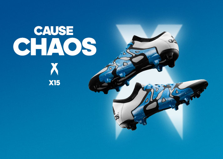 adidas X15 White, Solar Blue, Core Black - Unisport Exclusive