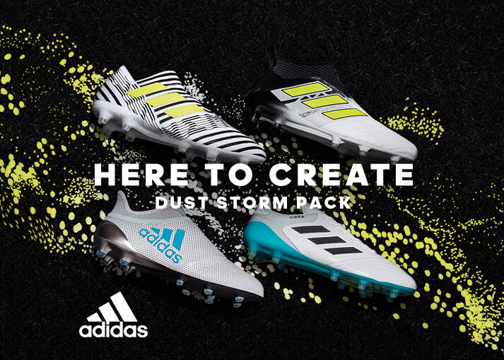 Regenerador Tomar un riesgo Locura  Buy the new Adidas Dust Storm Pack football boots at Unisportstore.com