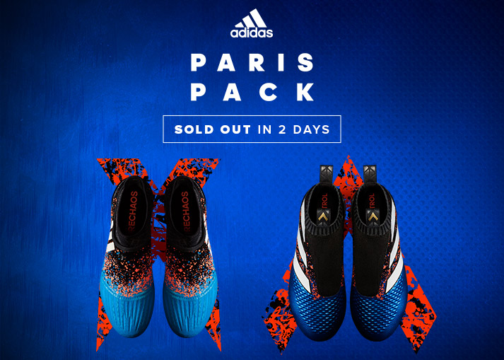 Order the adidas ACE 16+ PureControl and X 16+ PureChaos Paris Pack on unisportstore.com