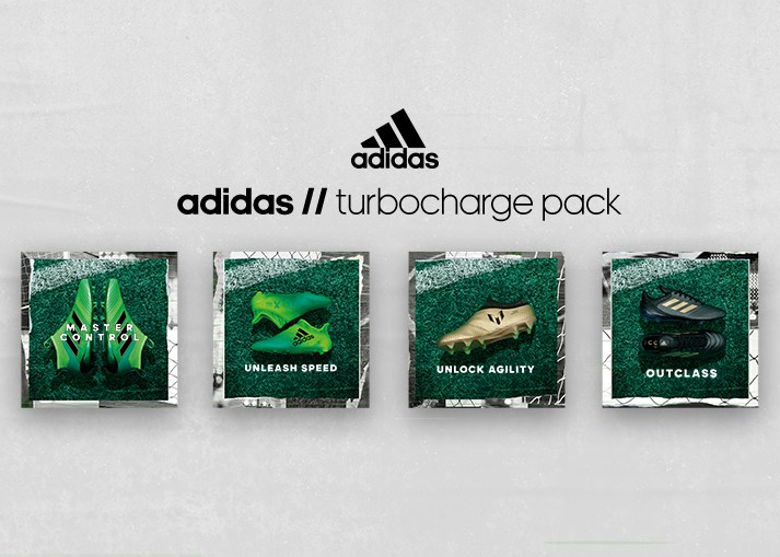 Køb de nye adidas 'Turbocharge' Pack fodboldstøvler på Unisport.dk