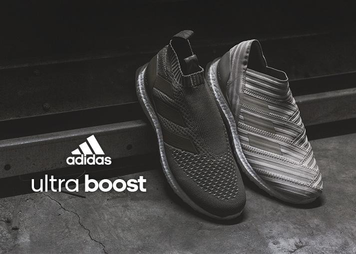 Bestel de gloednieuwe adidas  ACE & NEMEZIZ UltraBoost sneakers op unisportstore.nl