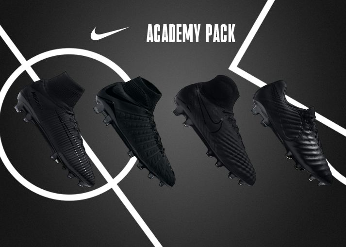 Buy blackout Nike Academy Pack football boots on unisportstore.com 90dd4dcfe5d5d