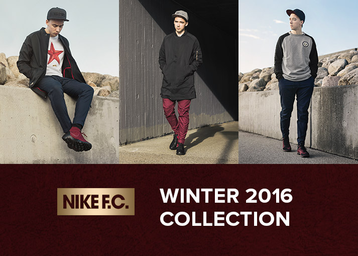 Køb Nike F.C. fodbold modetøj hos Unisport