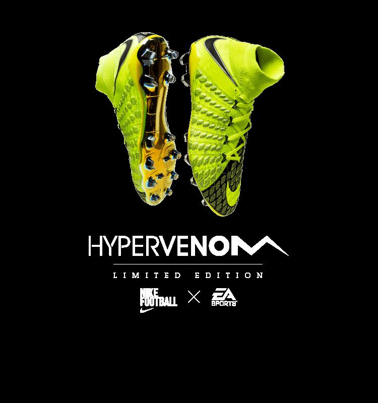 free shipping 28a0b 771ac nike hypervenom 3 ea sports heel