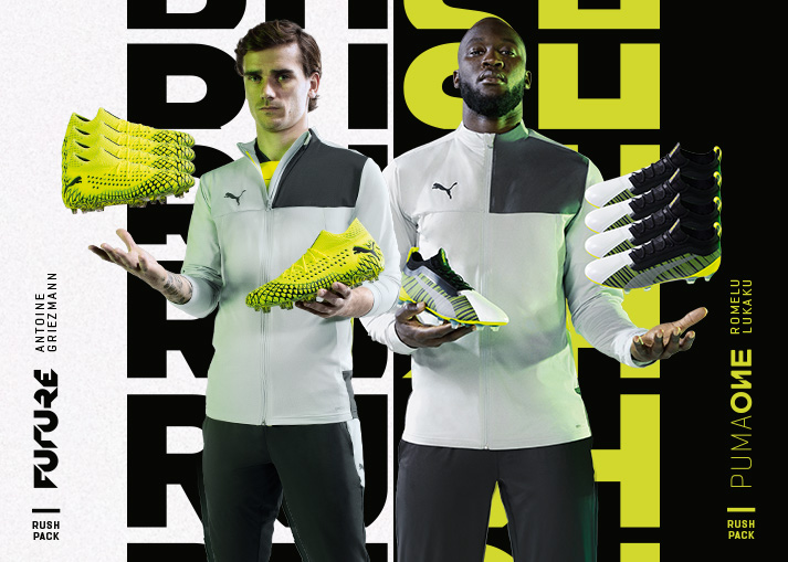 PUMA are ready with the new Rush Pack for the Future and the One. Buy your Rush Pack football boots at Unisport.