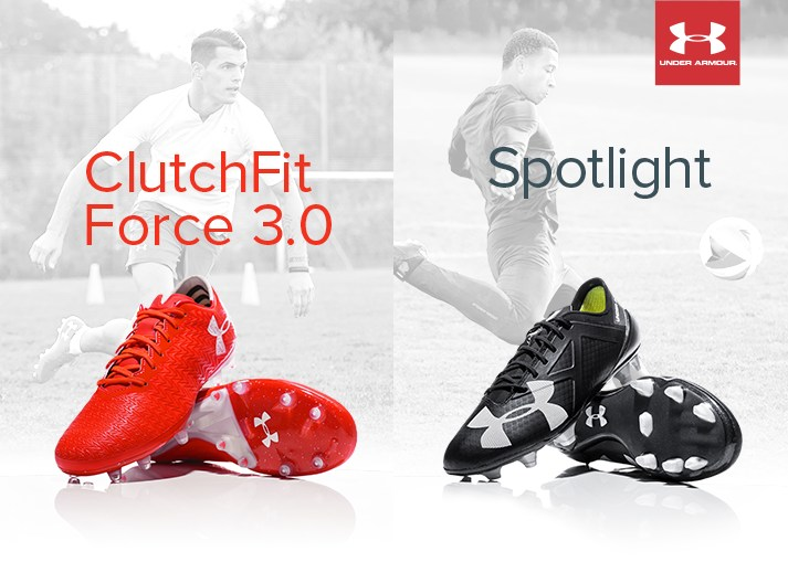 Get your new Under Armour Spotlight and ClutchFit football boots on unisportstore.com