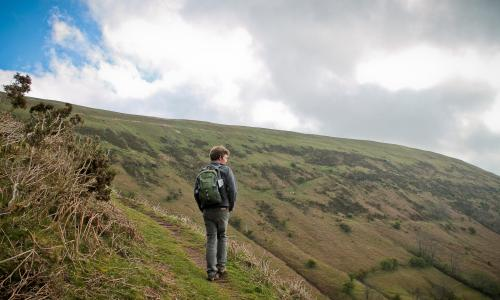 Horatio Clare walks along Offa's Dyke to the Hay literary festival for BBC Radio 3 programme.