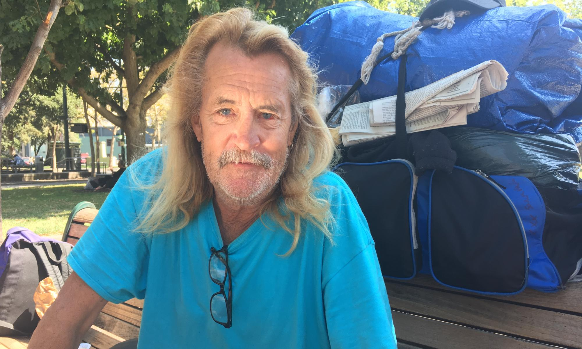 Terry Hammer, a formerly homeless resident of San Jose.