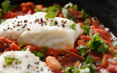 Cod and chorizo stew