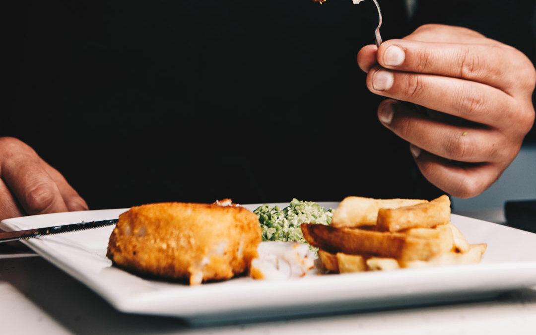 Ish Fish, Chips and Mushy Peas