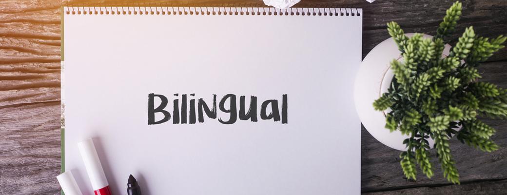 Schriftzug: bilingual