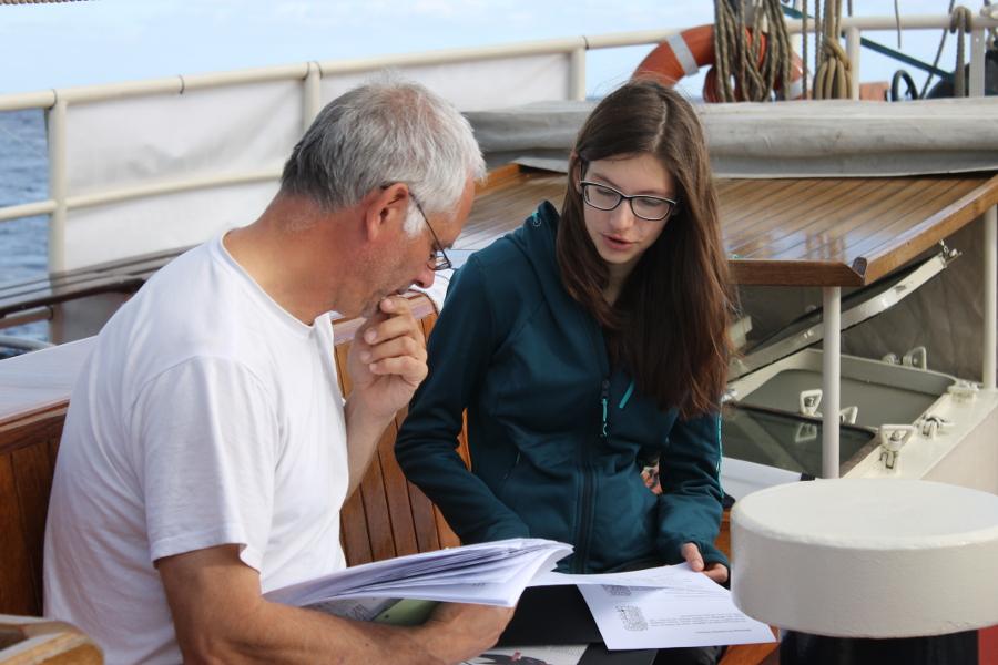 Einzelunterricht_Ruediger Stoehr und Nora_Ocean College