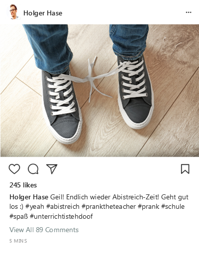 Instagram-Post Abistreich
