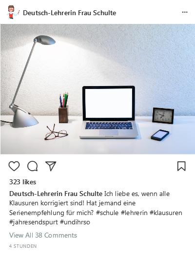 Instagram-Post Klausuren