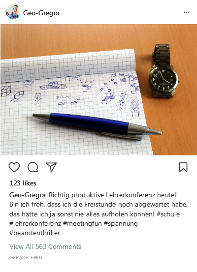 Instagram-Post Lehrerkonferenz