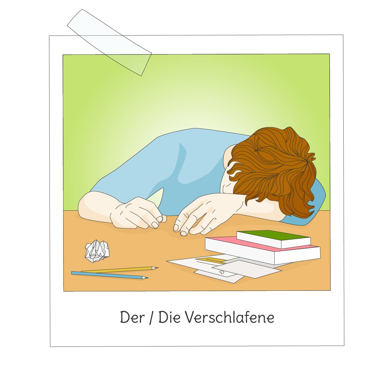 Klassenzimmertypen-Verschlafene