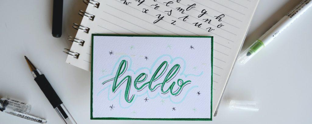 schrift hand lettering schreiben