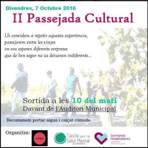 Passejada Cultural - Vilafranca 2016