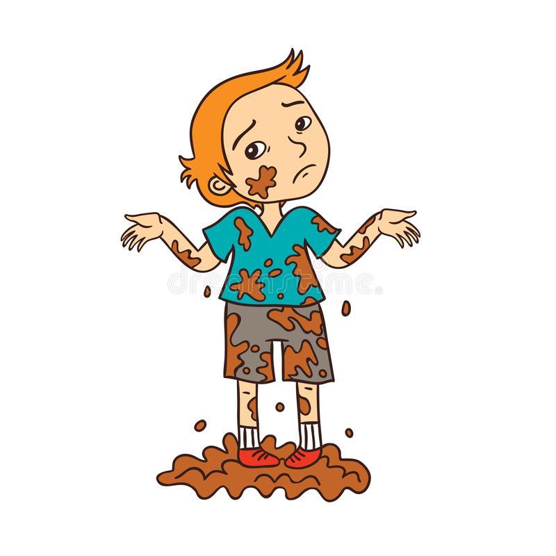 Картинка мальчик грязнуля для детей