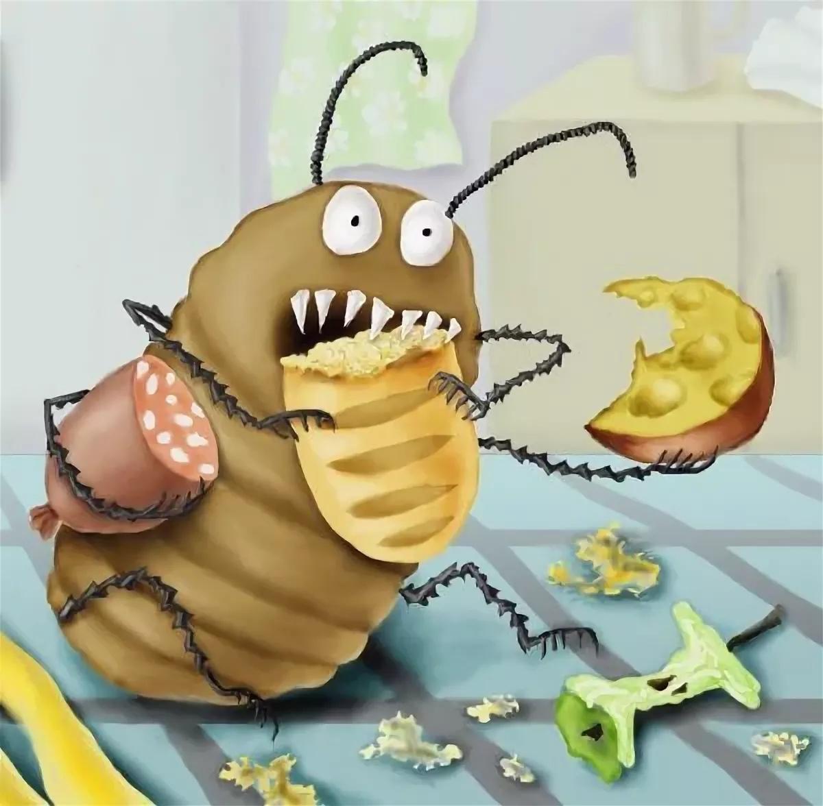 Рисунки прикольных насекомых