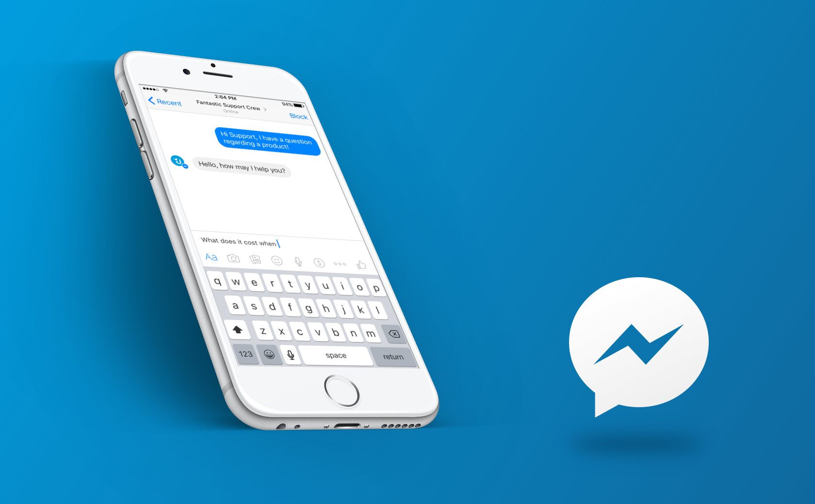 screenshot facebook messenger support