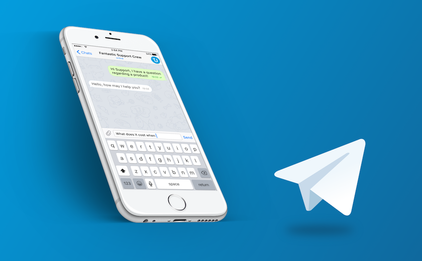 screenshot telegram messenger support